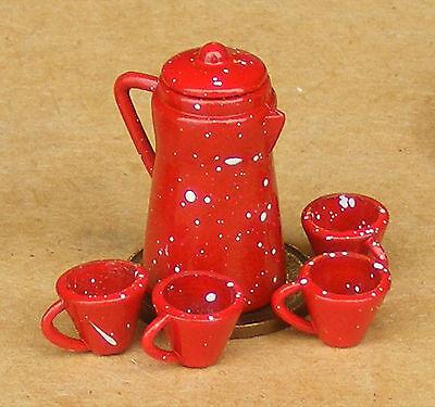 Attivo Scala 1:12 Rosso In Metallo Caffè Casa Delle Bambole Miniatura Accessorio Cucina Bere-mostra Il Titolo Originale Acquista Sempre Bene