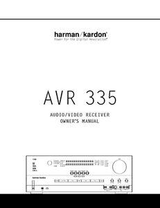 harman kardon avr 335 av receiver owners manual ebay rh ebay com Harman Kardon AVR 320 Manual harman kardon avr 335 owners manual