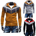 Men's Fashion Slim Sweatshirt Casual Coat Zip Hoodies Hoody Jacket Outwear Tops