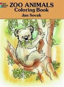 Dover Coloring Bks Zoo Animals Book By Jan Sovak 1993