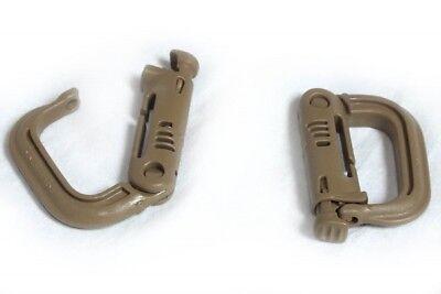 Sporting Goods Crimlook Karabiner D Ring 2er Pack,montage Schnalle,desert,uk,us,mtp,afganistan