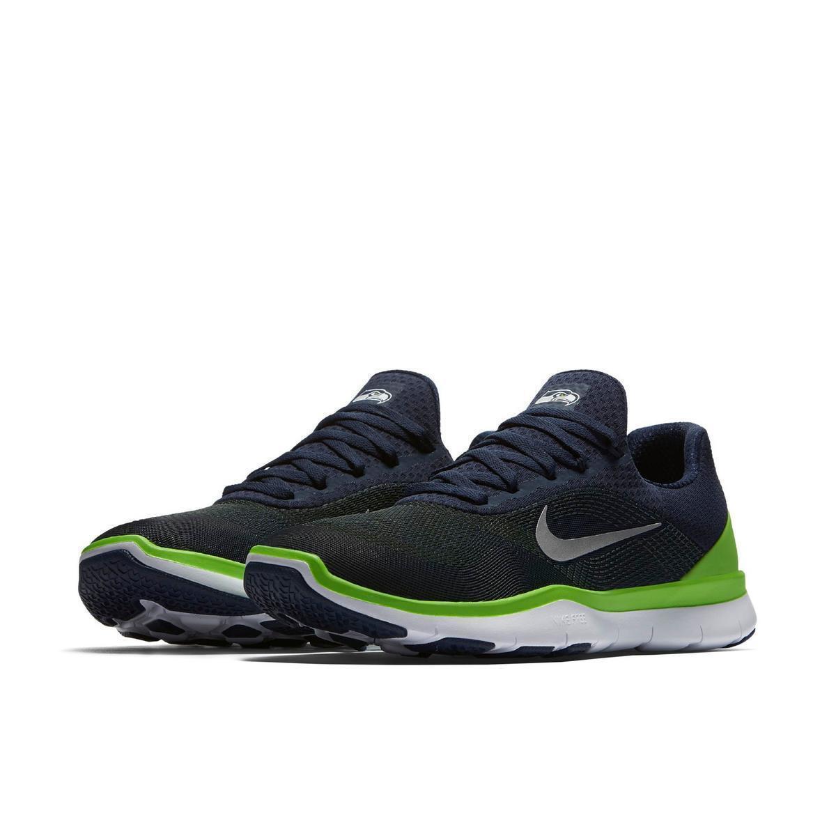 Nike Free Trainer V7 Seattle Seahawks NFL Training Running shoes New W  Box