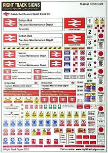 diesel depot engine shed 00 gauge OO gauge Network Rail Custom Depot Signs