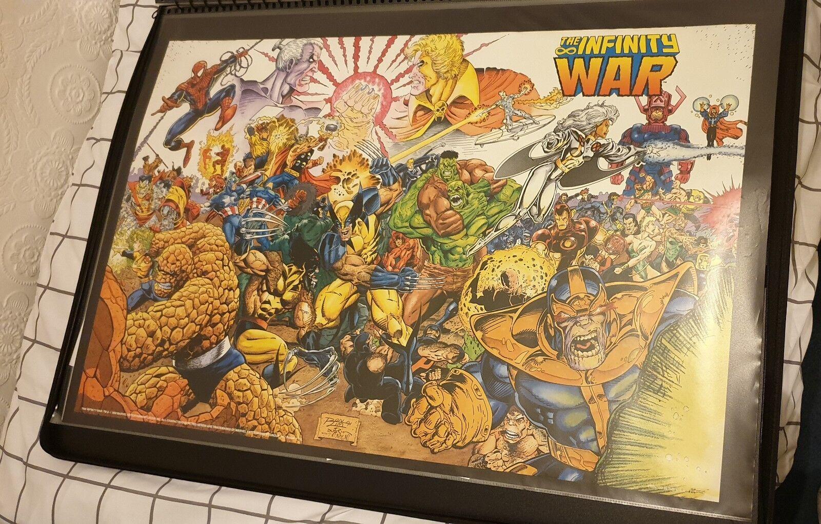 Infinity Guerra Versión Original Retro 90s 36x24 póster de cómic