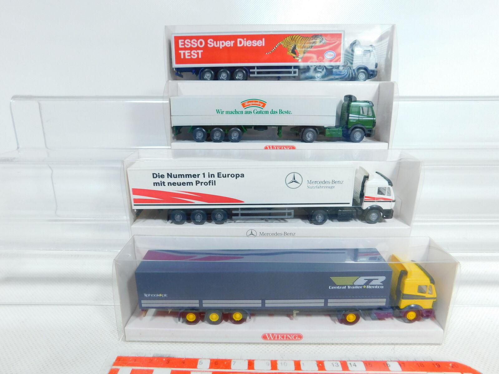 punto de venta Bx332-0, 5  4x Wiking 1 87 87 87 h0 remolCochese camión MB  510 + 600 + esso + 511, top + embalaje original  la red entera más baja