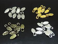 200pcs Mix 4 Color Glue on Bail Earring Bails For Glass Tile DIY Pendants Charms
