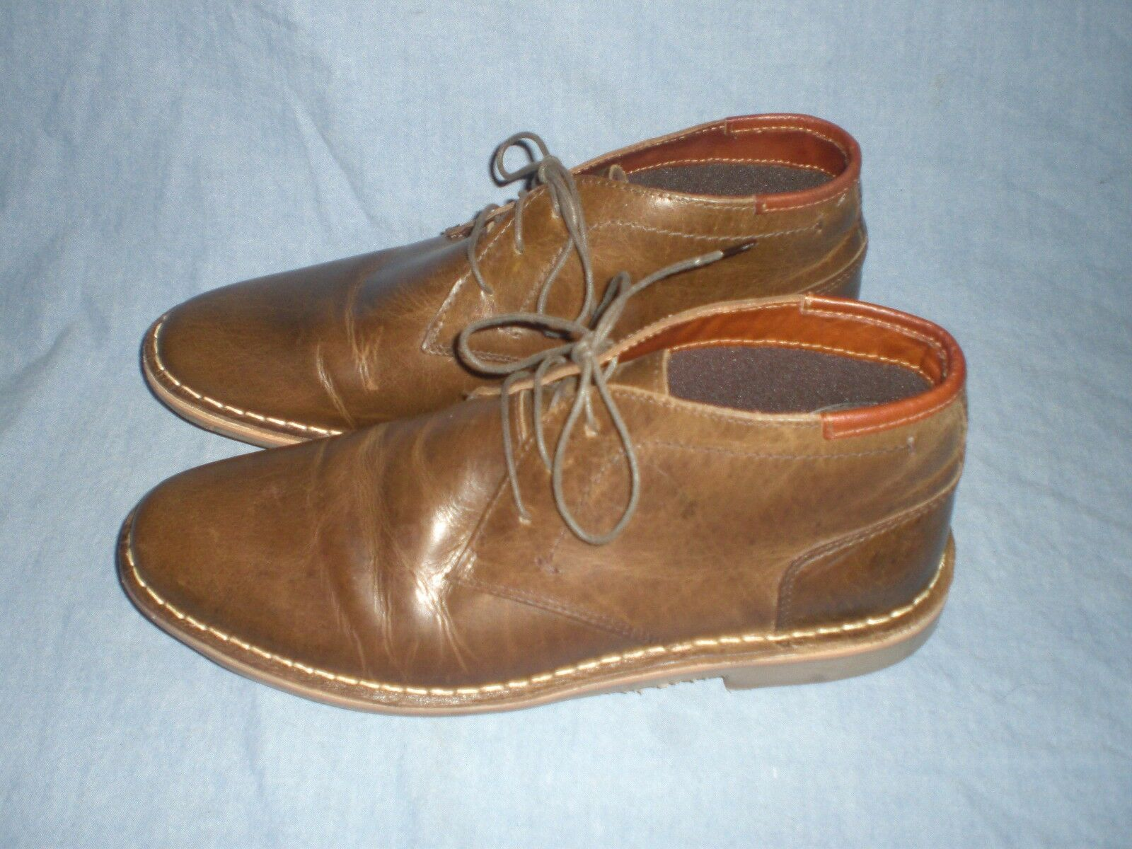 Steve Madden Men's Harken Chukka Boots Ankle Boots  Leather SIZE 9