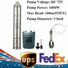 3 Dc 72v Solar Deep Bore Well Submersible Water Pump Mppt Controller 1000w Us