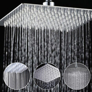 Image Is Loading 12 039 Square Rain Shower Head Stainless