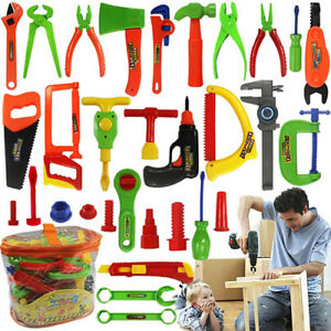 Kids-Play-Pretend-Toy-Tool-Set-Workbench-Construction-Workshop-Toolbox-Tools-New