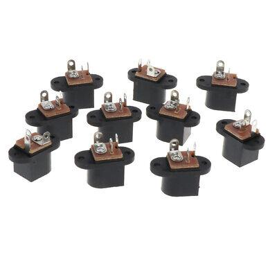 10PC 5.5mm x 2.5mm DC Power Supply Female Jack Socket Panel Mount Connector B171