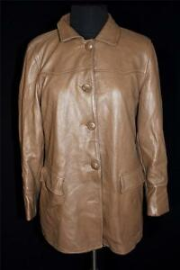 RARE-VINTAGE-1960-039-S-WOMAN-039-S-TAUPE-BROWN-DEERSKIN-WISCONSIN-MADE-JACKET-SIZE-38