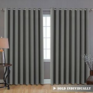 Image Is Loading Blackout Patio Grey Curtains Extra Long And Wider