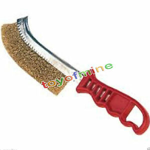 hand wire brush heavy duty with plastic handle diy tool rust paint metal remover ebay. Black Bedroom Furniture Sets. Home Design Ideas