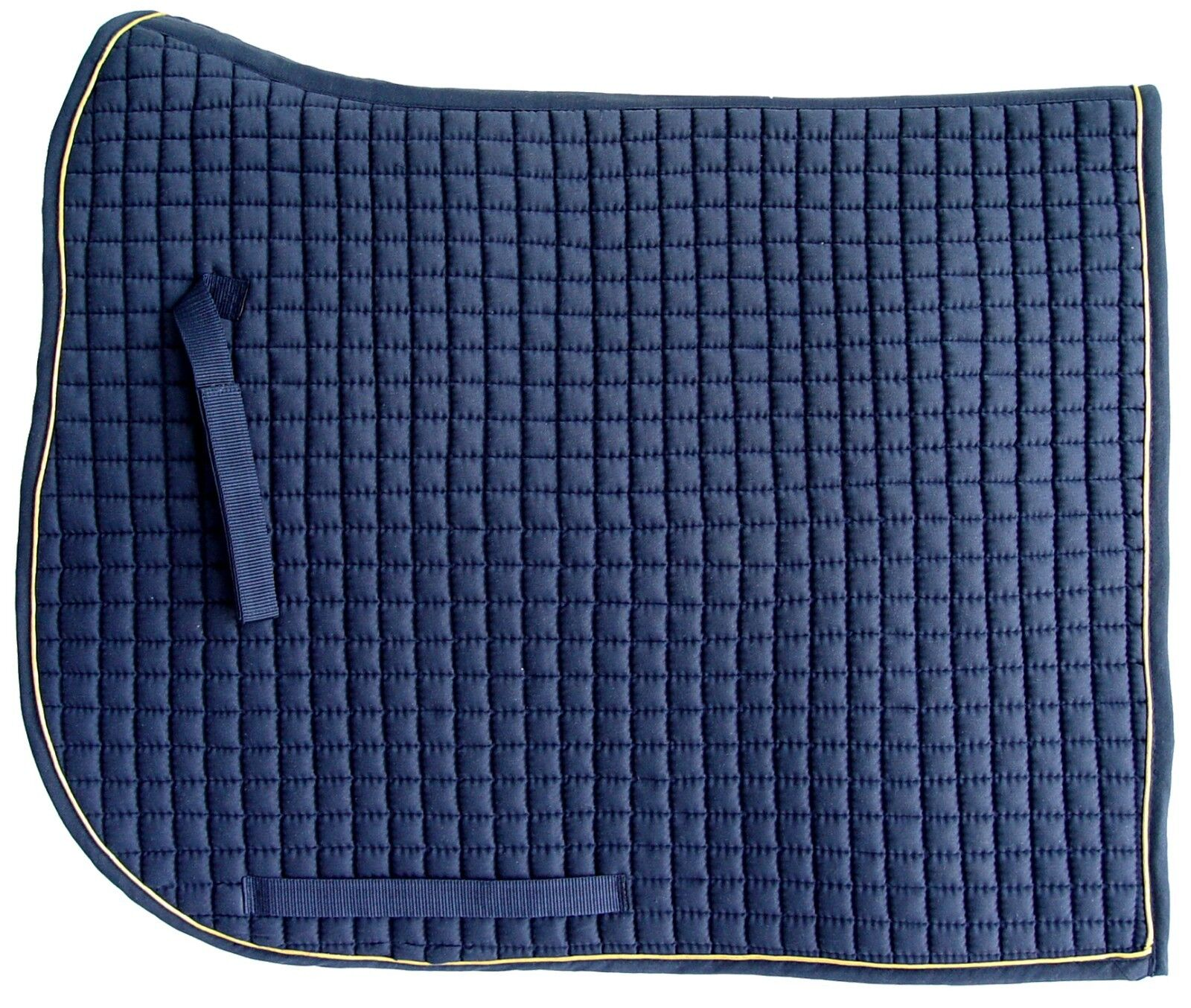 PRI Extra Long Monarchy Dressage Pad  Quilted w Piping  Navy gold