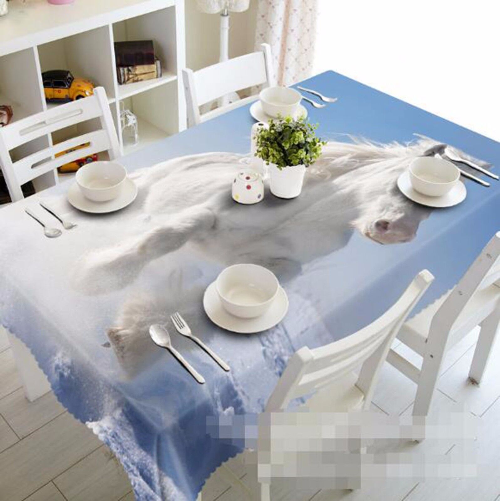 3D Horse 63 Tablecloth Table Cover Cloth Birthday Party AJ WALLPAPER UK Lemon
