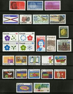 Canada   1970   Unitrade # 505 - 531   Complete Mint Never Hinged Year Set