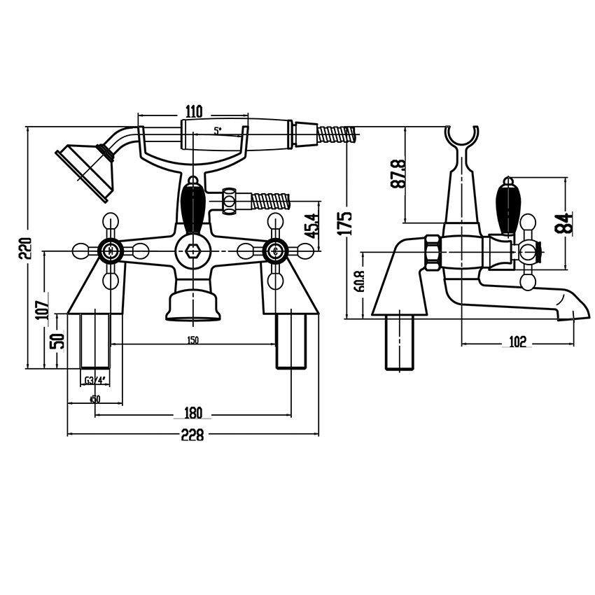 Tradizionale Scollo Tondo Rubinetto Lavabo & Bagno doccia doccia doccia Mixer Tap Croce Testa Maniglie  V 1e6c32