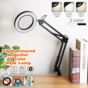 5X Magnifying Lamp Daylight Magnifier Lens Desk Table Task ...