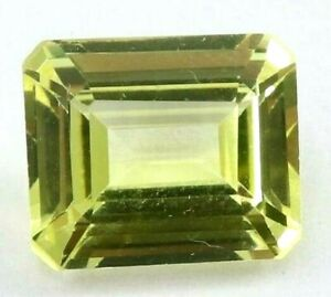 6.20 Ct Natural Yellow Sapphire Emerald Cut AGSL Certified Loose Gemstone