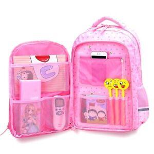 Girls-Backpack-Elementary-School-Multi-Pocket-Design-Waterproof-Polka-Dots-Bag