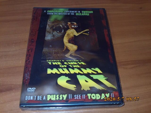 The Curse of the Mummy Cat (DVD, Full Frame 2018) NEW