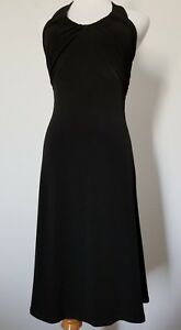 Moda-International-Maxi-Dress-Women-039-s-size-S-Spaghetti-Strap-Stretch-Black-USA