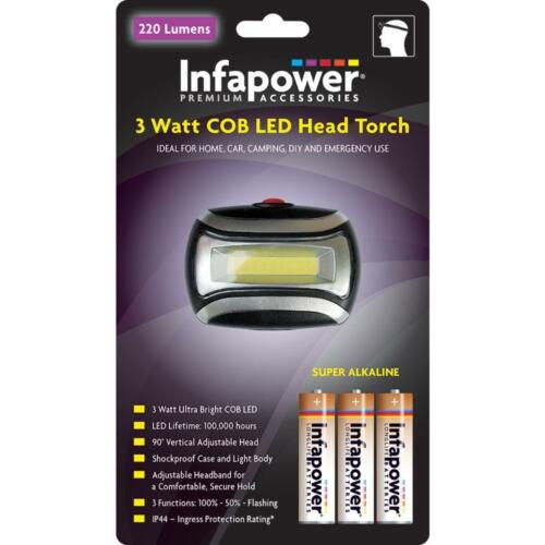 Infapower F038 Strong Rubber Heavy Duty 1 Watt COB LED Penlight Assorted Colours