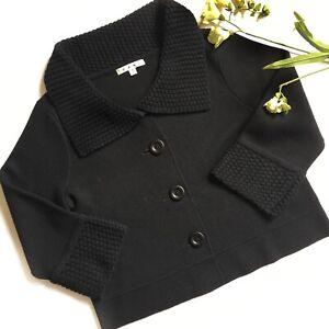 CAbi-Jackie-O-Black-Cropped-Cardigan-Women-Sz-Medium-Style-502