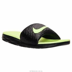 4c4fc6fe68b Men s Nike BenassI Solarsoft Slide Sandal Black Volt 705474 070
