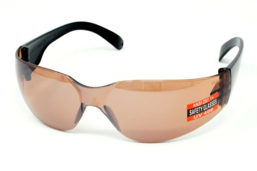 New Copper/Brown tinted motorcycle glasses/Shatterproof biker wraps + Free pouch