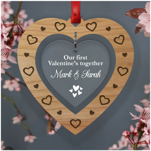 PERSONALISED Our First Valentines Together Gifts for Him Her Couples Keepsakes