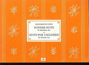 """Noten & Songbooks """" Kinder-suite Für Blockflöten Trio """" Um Jeden Preis Hans Martin Linde"""