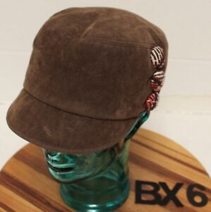 e805b273196ef WOMENS SAN DIEGO HAT CO. CADET/MILITARY STYLE HAT BROWN OSFM VGC BX6 ...