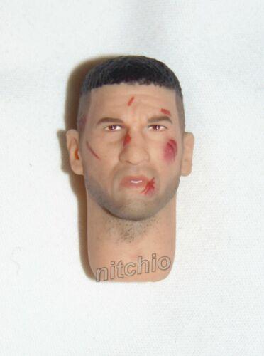 Head Portrait Bataille Endommagé Partie du Corps Seulement Mezco One:12 Netflix Punisher
