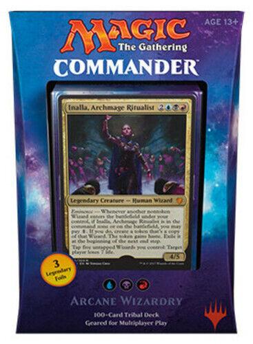 1-x-MTG-Commander-2017-Arcane-Wizardry-Preconstructed-Decks-Brand-New