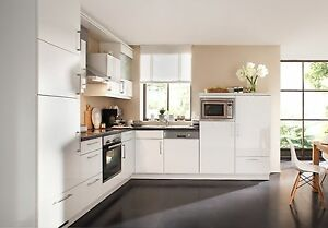 Details zu Nolte Küche Lux weiß Hochglanz