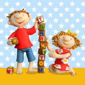 Thank-You-Children-039-s-Greeting-Card-Ferdie-amp-Friends-Greetings-Cards