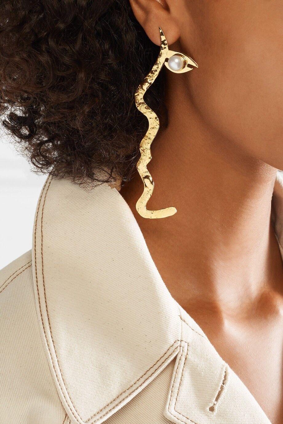 REJINA PYO + Anissa Kermiche Grande Tete a Tete gold-plated pearl earrings