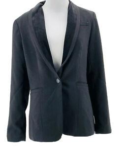Cynthia Rowley Women's Black Long Sleeve One Button Blazer Jacket Size Small NEW
