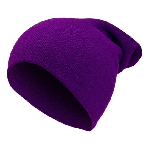 Damen Herren Strickmütze Long Beanie Warme Wintermütze lang Slouch Mütze