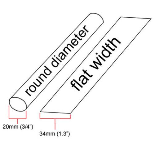 "inch//feet//to 20mm 5x24/""= 10 ft 3//4/"" ID Green Heat Shrink Tube 2:1 ratio 0.75/"""