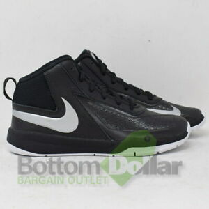 06cf2fdadc5 Nike Boy s Team Hustle D 7 (PS) Black Metallic Silver-Wht Basketball ...