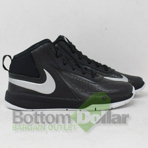 13C Black//Metallic Silver-Wht Basketball Shoes Nike Boy/'s Team Hustle D 7 PS