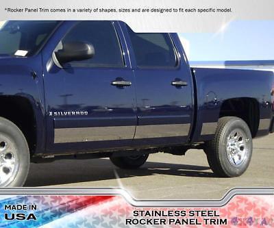 "Chevy Silverado EXT Cab 6.8/' SB 07-13 Stainless Steel 6/"" Rocker Panel 14PC"