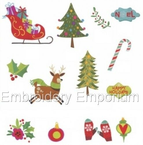 A VERY MERRY CHRISTMAS COLLECTION MACHINE EMBROIDERY DESIGNS ON CD OR USB