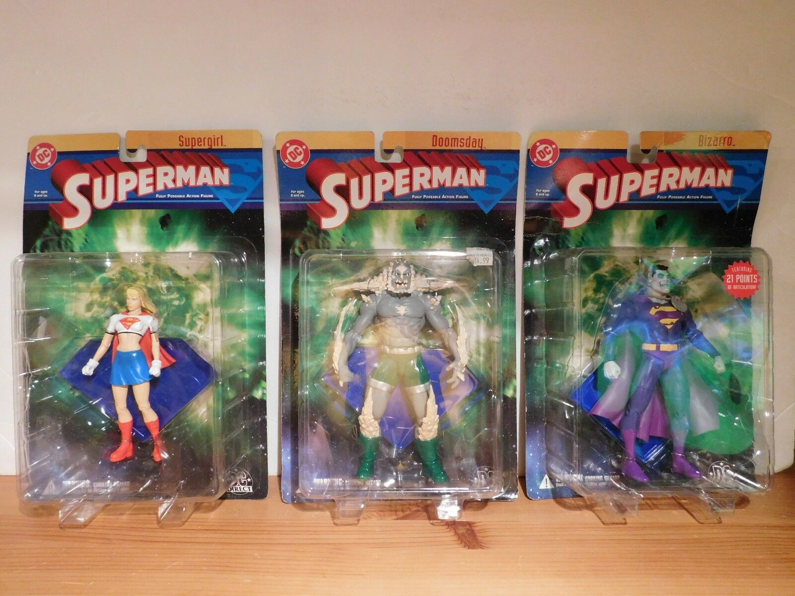 DC Superman Figures - Supergirl, Doomsday, Bizarro