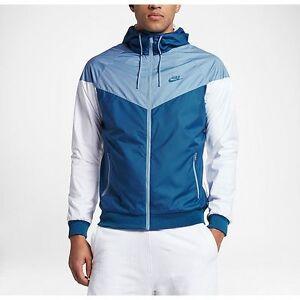 43f13199e9d1 Nike Windrunner Men s Jacket Windbreaker Blue White 727325-460 A+