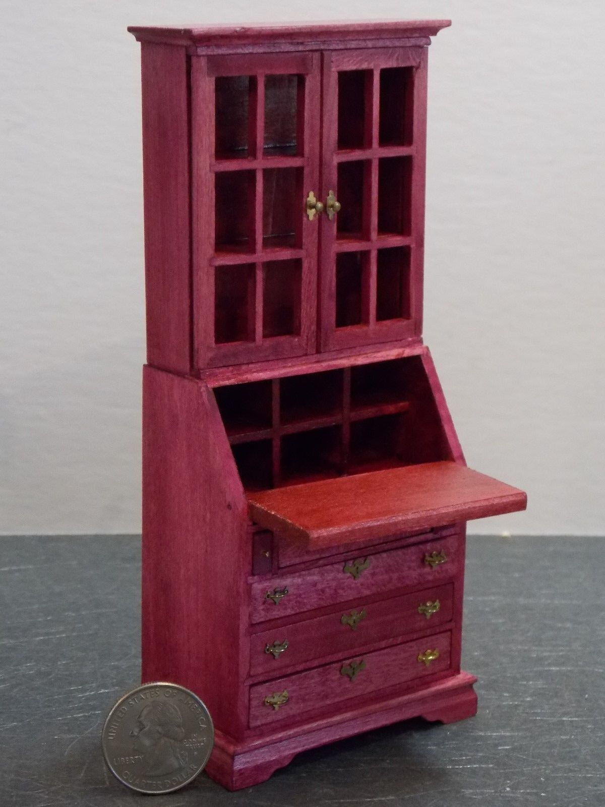 Dollhouse Miniature Desk Secretary Berry 1:12 one inch scale F51 Dollys Gallery
