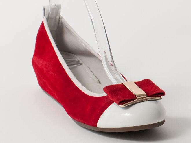 Nuevo Francesco V. Rojo Y blancoo Zapatos De Gamuza EE. UU. 6